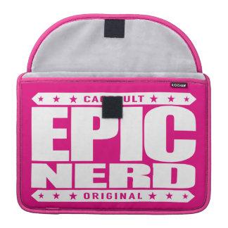 EPIC NERD - Cerebral Warrior, Defender of Reason Sleeves For MacBooks