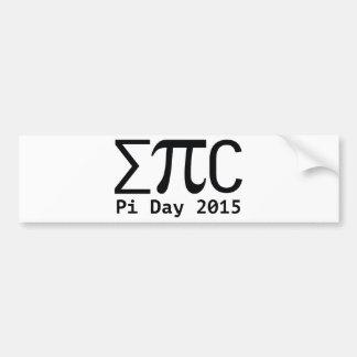 Epic Pi Day Bumper Sticker