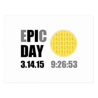 """Epic Pi Day - E""""PI""""C Day Apple Lattice Pie Postcard"""