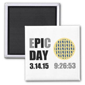 """Epic Pi Day - E""""PI""""C Day Blueberry Lattice Pie 2 Inch Square Magnet"""