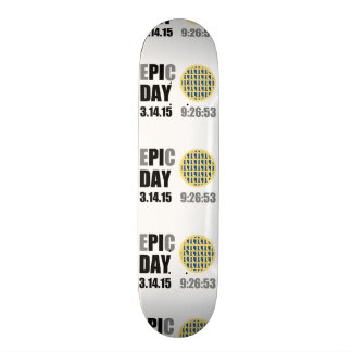 "Epic Pi Day - E""PI""C Day Blueberry Lattice Pie Skate Boards"