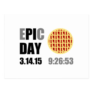 "Epic Pi Day - E""PI""C DAY Postcard"