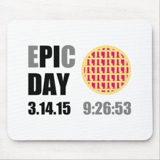 "Epic Pi Day - E""PI""C Day Raspberry Lattice Pie Mouse Pad"