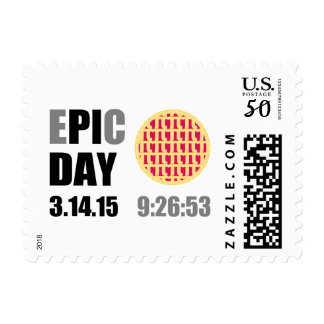 "Epic Pi Day - E""PI""C Day Raspberry Lattice Pie Postage"