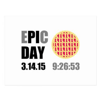 "Epic Pi Day - E""PI""C Day Raspberry Lattice Pie Postcard"