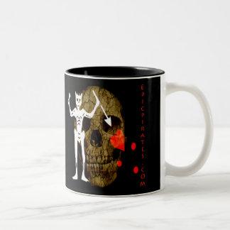 Epic Pirates Banner #1 Two-Tone Coffee Mug