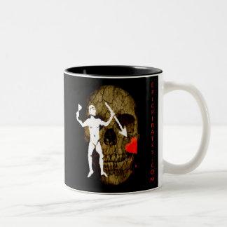 Epic Pirates Banner #6 Two-Tone Coffee Mug