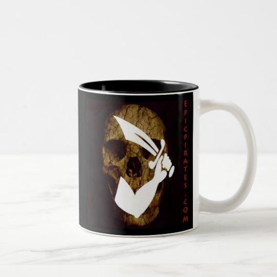 Epic Pirates Banner #7 Two-Tone Coffee Mug