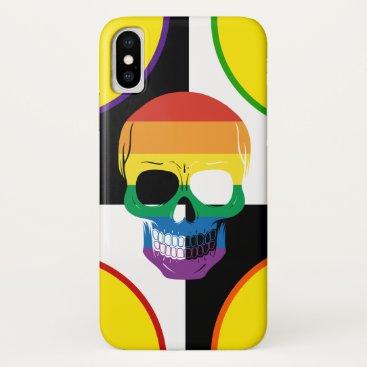 Epic Pride Rainbow Skull iPhone X Case