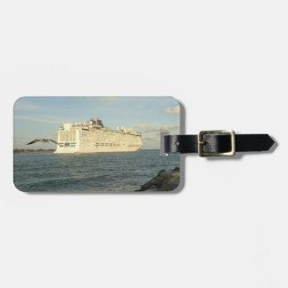 Epic Pursuit - Bird and Cruise Ship Personalized Bag Tag