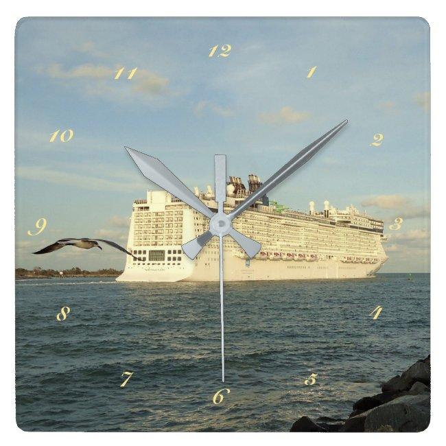 Epic Pursuit - Gull Following Cruise Ship