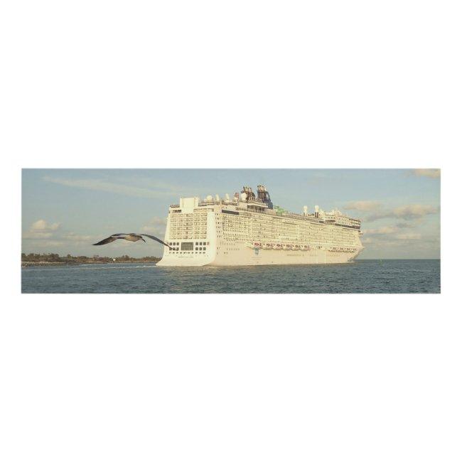 Epic Pursuit - Gull Follows Cruise Ship N1P