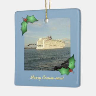 Epic Pursuit Merry Cruise-mas Ceramic Ornament