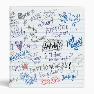 Epic School Doodles Vinyl Binder