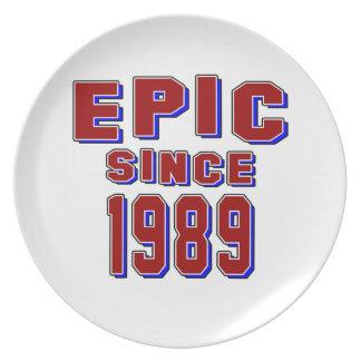 Epic since 1989 plates