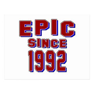 Epic since 1992 postcard