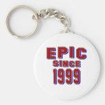 Epic since 1999 basic round button keychain