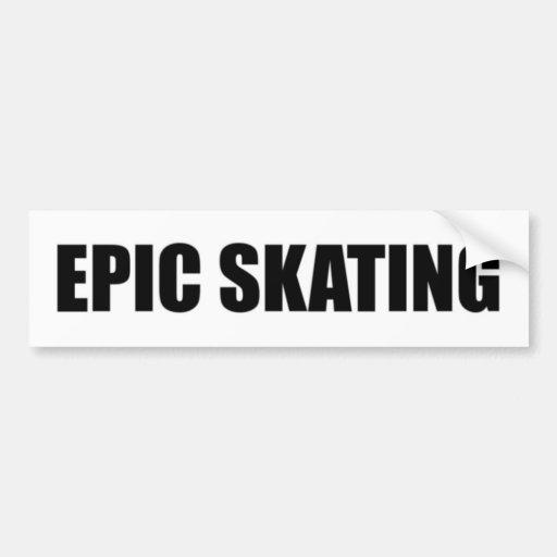 Epic Skating Bumper Sticker - Black Letters
