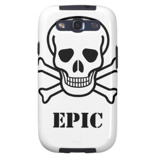 Epic Skull n Bones Samsung Galaxy S Case Galaxy SIII Covers