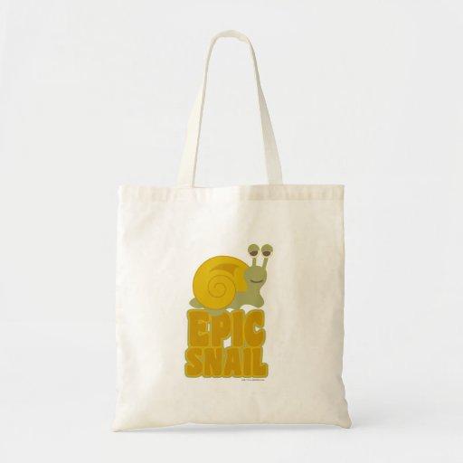 Epic Snail! Budget Tote Bag