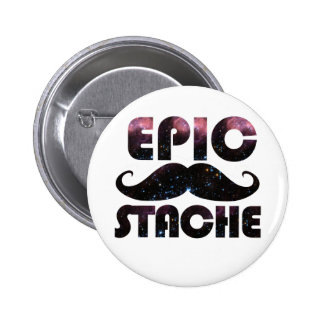 Epic Stache 2 Inch Round Button