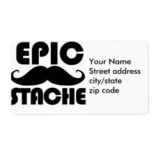 Epic Stache Label