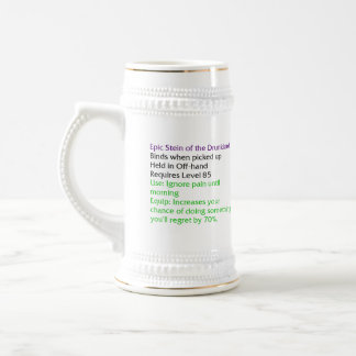 Epic Stein of the Drunklord (MMORPG item) 18 Oz Beer Stein
