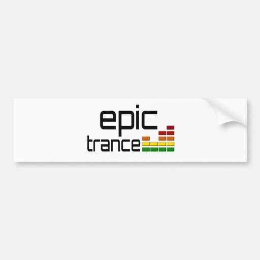 Epic Trance Music with Stereo Equalizer Bumper Sticker