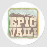 Epic Vail Classic Round Sticker