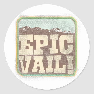 Epic Vail Classic Round Sticker