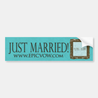 "Epic Vow ""Just Married"" Bumper Sticker"