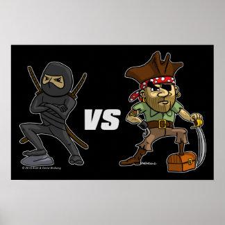 epic Warrior Ninja vs Pirate Poster