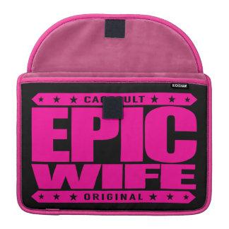 EPIC WIFE - Completely Faithful To My Yoga Teacher Sleeve For MacBooks