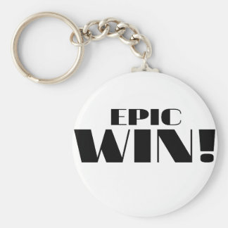 Epic Win! Basic Round Button Keychain