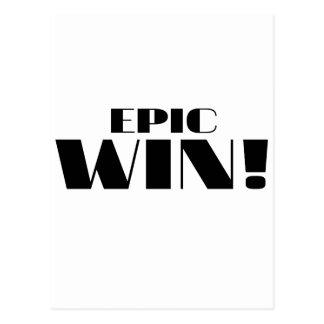 Epic Win! Postcard