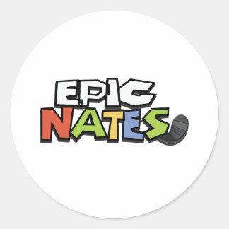 EpicNates Pegatinas Redondas