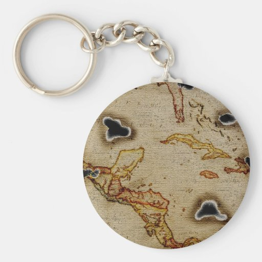EpicTreasure Map #1 Basic Round Button Keychain
