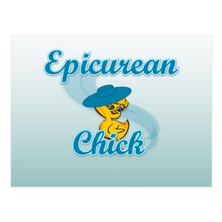 Epicurean Chick #3 Postcard