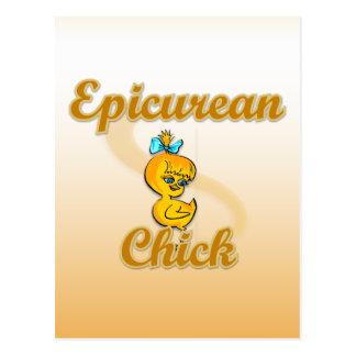Epicurean Chick Postcard