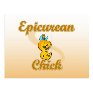 Epicurean Chick Postcard