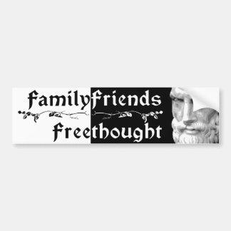 Epicurus: Amigos Freethought 2 de la familia Pegatina Para Auto