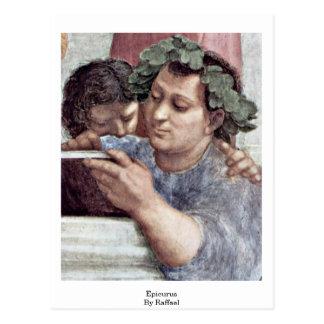 Epicurus By Raffael Postcard