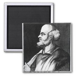 Epicurus, engraved by Johann Fredrich Schmidt 2 Inch Square Magnet