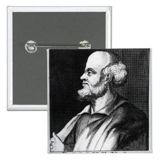 Epicurus, engraved by Johann Fredrich Schmidt Button