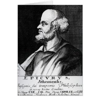 Epicurus, engraved by Johann Fredrich Schmidt Card