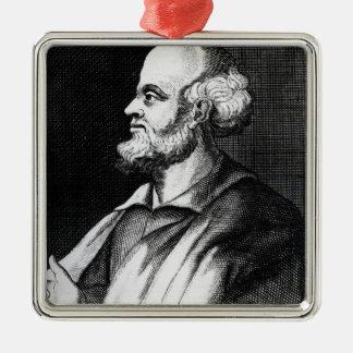 Epicurus, engraved by Johann Fredrich Schmidt Metal Ornament