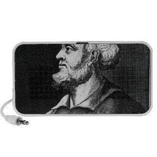 Epicurus, engraved by Johann Fredrich Schmidt Mini Speaker