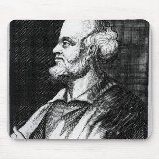 Epicurus, engraved by Johann Fredrich Schmidt Mouse Pad