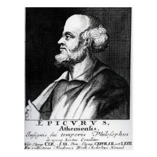 Epicurus, engraved by Johann Fredrich Schmidt Postcard