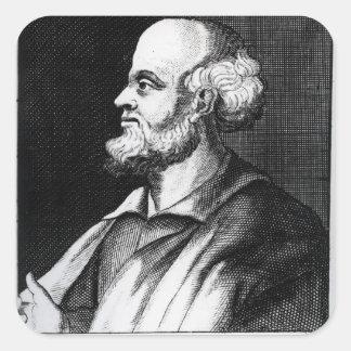 Epicurus, engraved by Johann Fredrich Schmidt Square Sticker